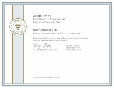 CertificateOfCompletion International SEO 1