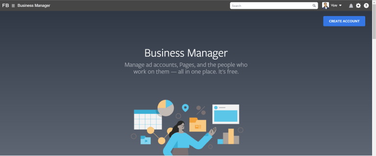 Create Facebook business suite manager account